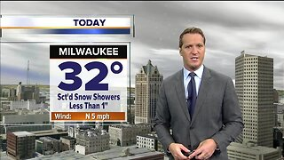 Scattered snow showers Thursday; less than one inch expected for most