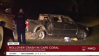 Cape police searching for driver in rollover crash