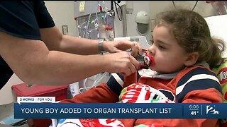 Young Boy Added To Organ Transplant List
