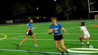 Wellington flag football being led by stingy defense