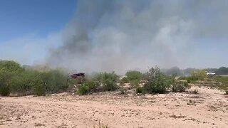 TFD responds to brush fire off Benson highway