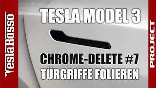 Tesla Model 3 Türgriff folieren - PROJECT CHROME DELETE #7
