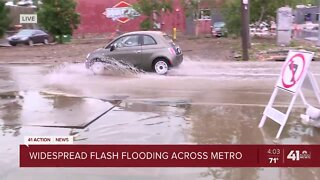 Areas along Southwest Boulevard flood
