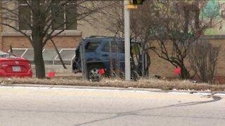 Car crashes into Milwaukee elementary school