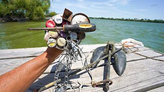 MAGNET FISHING NEW WATERS WITH SUPER STRONG MAGNETS!!