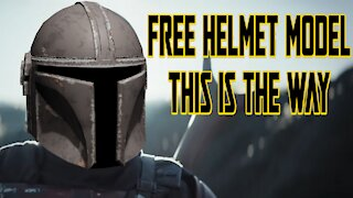 Battle Scarred Mandalorian Helmet - Free 3D Model