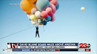 Check This Out: David Blaine soars miles above Arizona