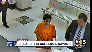 Woman running unlicensed Phoenix daycare arrested after child suffers broken arm