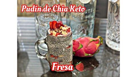 Pudín de Chias Fresa y Chocolate