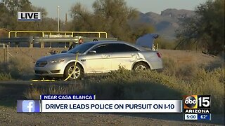 Driver leads police on pursuit on I-10