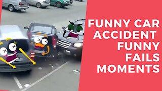 Funny Car accident | Funny Fails moments 2021