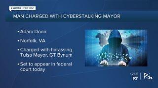 Mayor's accused cyberstalker in court
