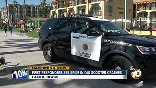 First responders see spike in drunk driving on scooters