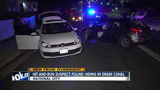 Driver in National City hit-and-run found in drain canal
