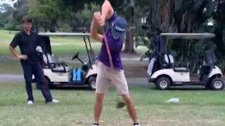 Golfer pulls amazing trick shot