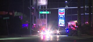 UPDATE: Man arrested after shooting at LVMPD officers