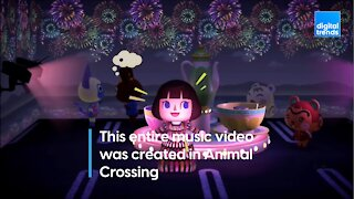 This entire music video was created in Animal Crossing