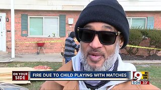 Mt. Airy fire due to child playing with matches