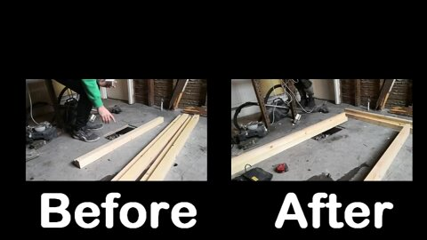 wooden step by step door frame construction
