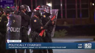 Protesters file lawsuit against City of Phoenix after officers mass-arrested people