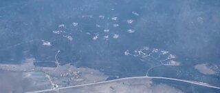 California fire destorys 25 homes