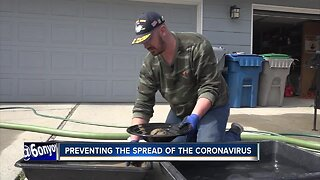Disabled veteran stays busy during social distancing