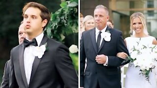 Groom's reaction to seeing his bride is beyond priceless