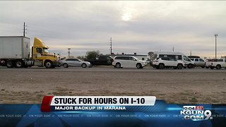 Drivers stuck for hours on I-10 after deadly pileup