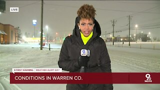 Snow conditions in Warren County