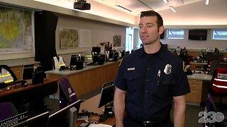 KCFD Public Information Officer Andrew Freeborn speaks on emergency preparedness
