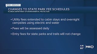 Rental fees changes at Florida State Parks