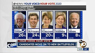 Democratic candidates move on to new battleground states