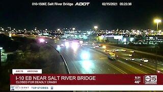 Deadly crash shuts down portion of I-10 near I-17 split