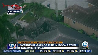 Large fire damages western Boca Raton home overnight