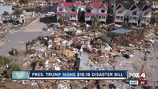 President Trump signs a bill to help those in disaster areas