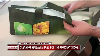 Cleaning reusable bags for the grocery store