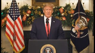 President Donald Trump in January 2021 - Explains 2020 Election Fraud