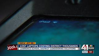 Lost laptops costing Lawrence schools thousands