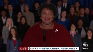 Stacey Abrams delivers the Democratic response to SOTU
