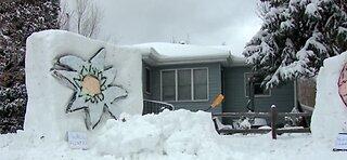 Man turns snow into art
