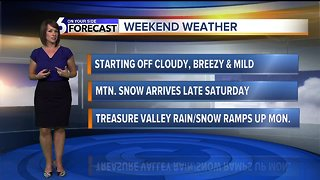 A cloudy but mild weekend ahead, with moisture moving in Sunday