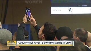 Coronavirus affecting sports events throughout Ohio