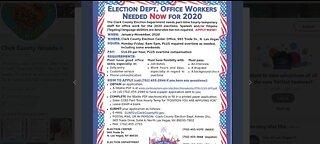 Election department hiring