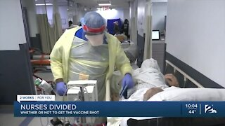 Oklahoma nurses divided on receiving COVID vaccine