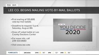 Lee County begins mailing ballots