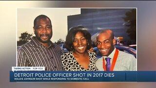 Detroit police officer shot in 2017 dies