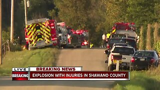 Explosion with injuries in Shawano County