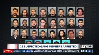Vegas police: 29 alleged gang members arrested