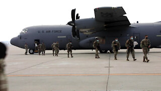 California National Guard's 250th Expeditionary Military Intelligence Battalion's return home Broll