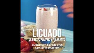 Smoothie of Strawberry, Banana and Amaranth